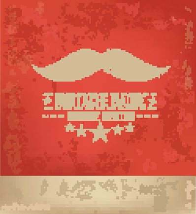 Moustache design on red background,vector