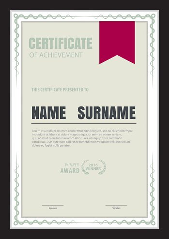 Certificate Templateabstract Diploma Layouta4 Size Vector Premium
