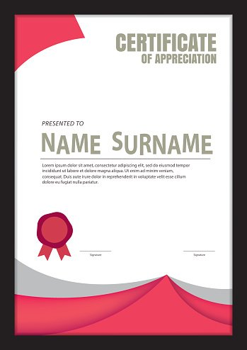 Certificate Template Abstract Diploma Layout A4 Size Vector Premium
