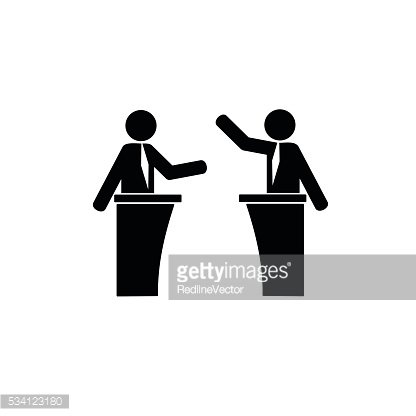 Political debates simple icon