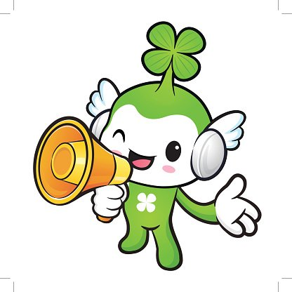 Lucky Fairy Mascot the right hand guides and left