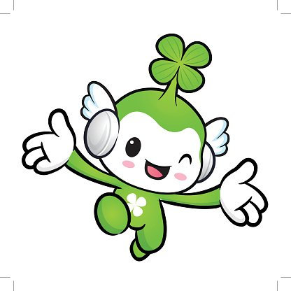 Lucky Fairy character on Running. Nature Character Design Series.