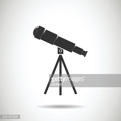 Spyglass icon.Telescope icon.vector illustration