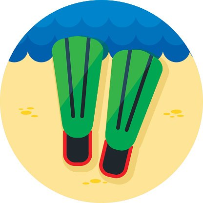 Flippers icon. Summer. Vacation