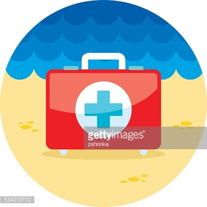 First aid kit icon. Summer. Vacation