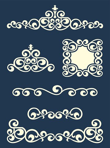 Page or text swirl dividers and decorations