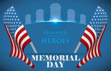 Memorial Day Poster to Honor Fallen Heroes with U.S.A. Flags