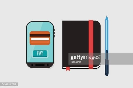 Mobile Payment: Flat lay vector illustration