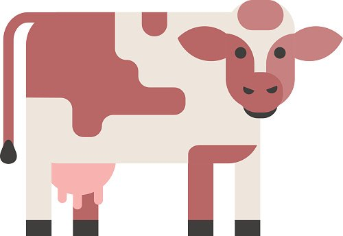 Cow isolated vector illustration.