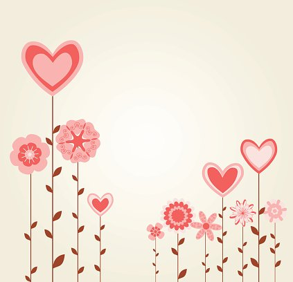 flowers with heart shapes