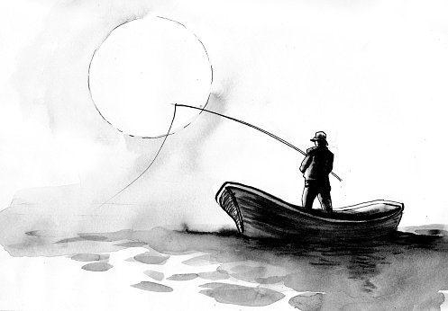 Man Fishing From Boat Clipart 1 566 198 Clip Arts