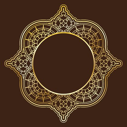 Collection of gorgeous golden ornate elements.