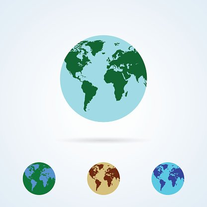 Vector Set from Colorful Globe Icons