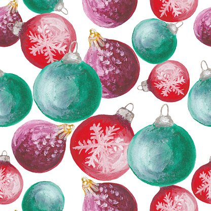 Seamless pattern of Christmas toys