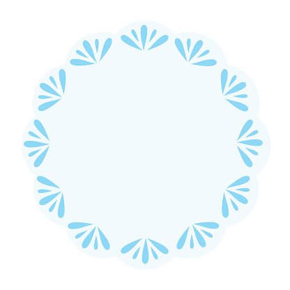 Abstract circle floral frame background.