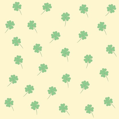 Green clover leave seamless background.