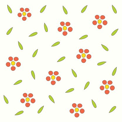 Japanese floral seamless background.
