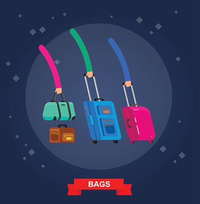 Travel bags . Luggage suitcase