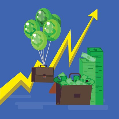Bank, money profit and investment