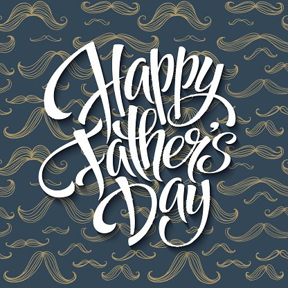 Happy fathers day background with greeting lettering