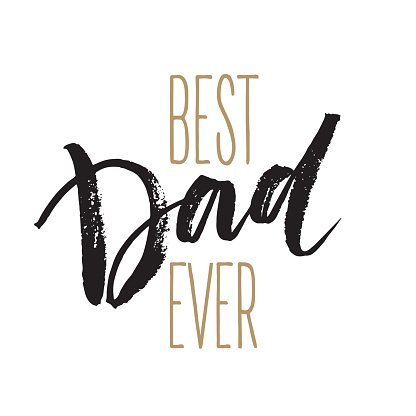 Best Dad lettering. Fathers day greeting card. Vector illustration