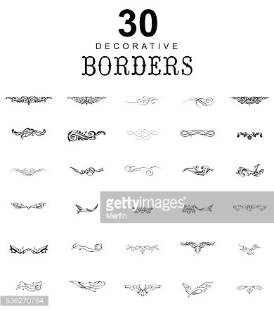 Borders and dividers decorative