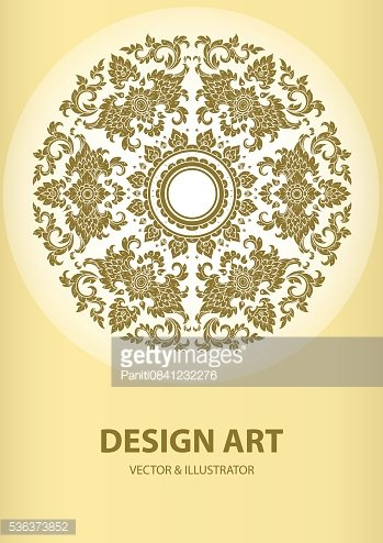 layout thai outline pattern vector