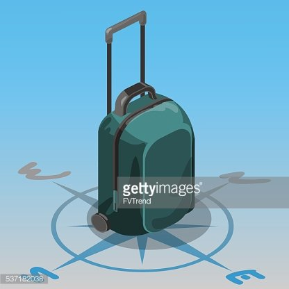 travel bag isometric