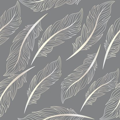 Seamless Wallpaper Feathers Pattern