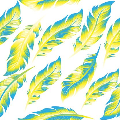 Seamless Wallpaper Feathers Pattern Texture Endless Background