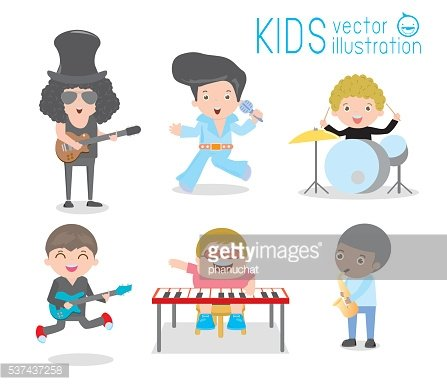 Kids and music, Children playing Musical Instruments, child and music