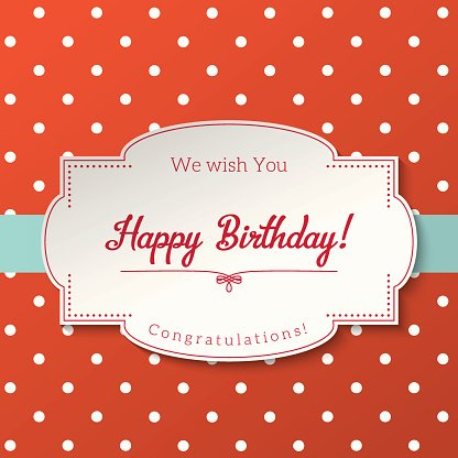 Vintage Grusskarte Mit Text Happy Birthday Illustration