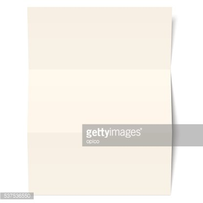 Empty sheet of paper