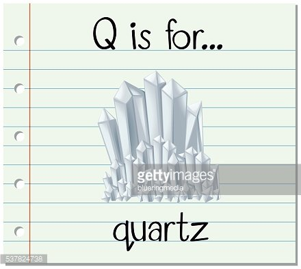 Flashcard letter Q is for quarts