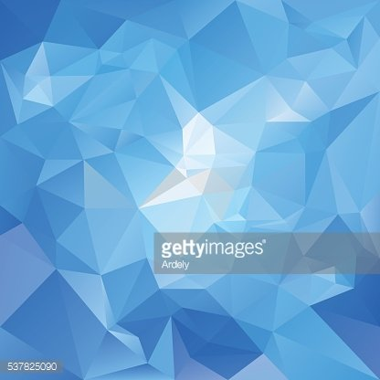 sky blue abstract polygon triangular background