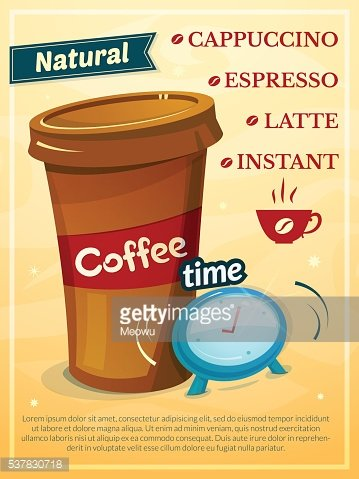 Coffee time vector illustration