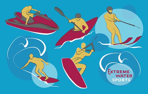Watersports-camp - Water Sports Camp Clipart (#1565214) - PinClipart