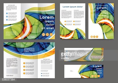 Color abstract brochure