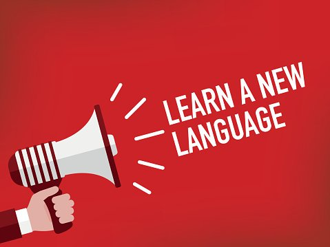 Announcement Concept: LEARN A NEW LANGUAGE
