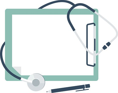 Medical Stethoscope With Blank Paper In Clipboard Clipart Image Transparent clipart man with clipboard. medical stethoscope with blank paper in