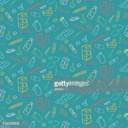 Seamless pattern for medicine and health