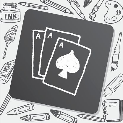 playcard doodle drawing