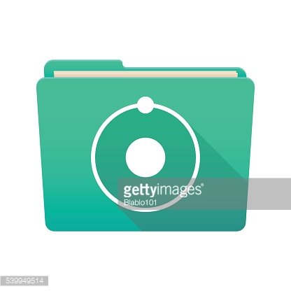 Folder icon with an atom
