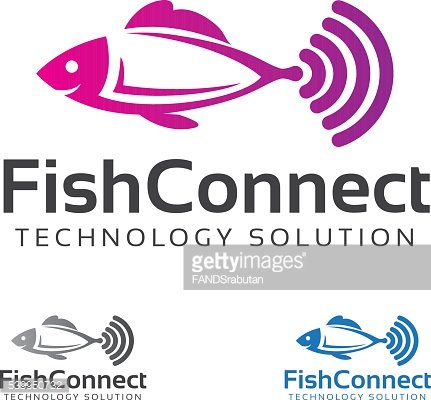 Fish Connect Vector Logo