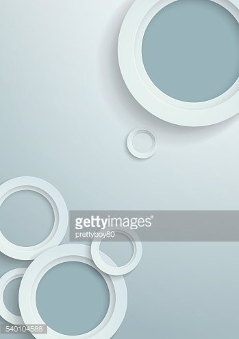 3D White Paper Circles Background