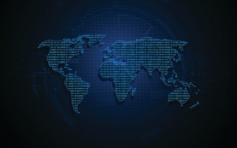 World map digital binary matrix code design background premium world map digital binary matrix code design background gumiabroncs Gallery