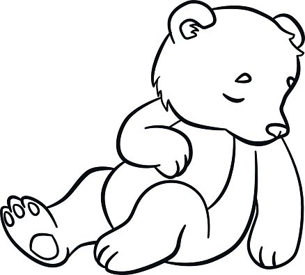 coloring wild little cute baby bear premium clipart. Black Bedroom Furniture Sets. Home Design Ideas