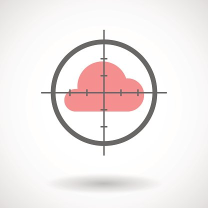 Crosshair icon with a cloud