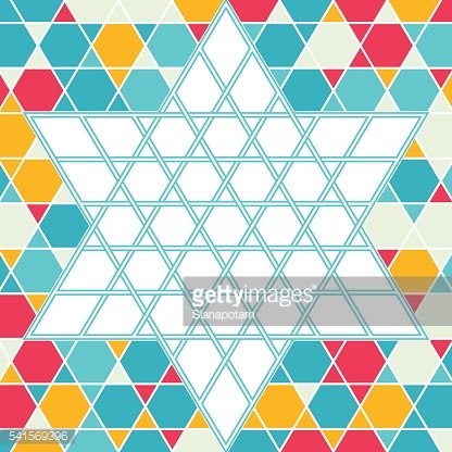 Patterned six-rays star background