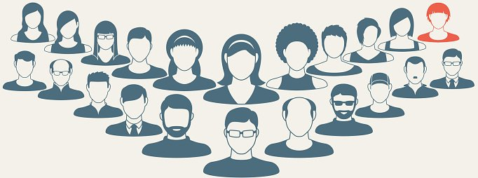 Abstract Elements.Social icons.People icon.People Flat icons collection